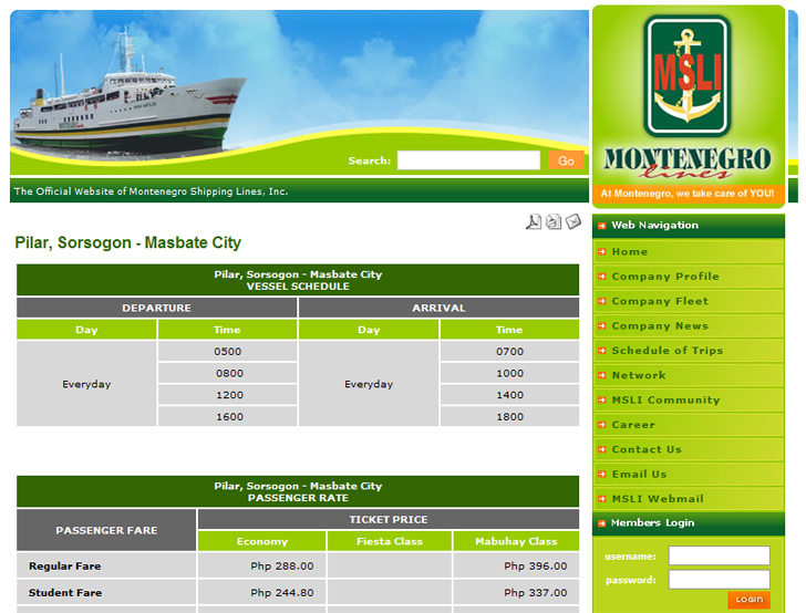 Click here to view the MOntenegro Shippinglines.